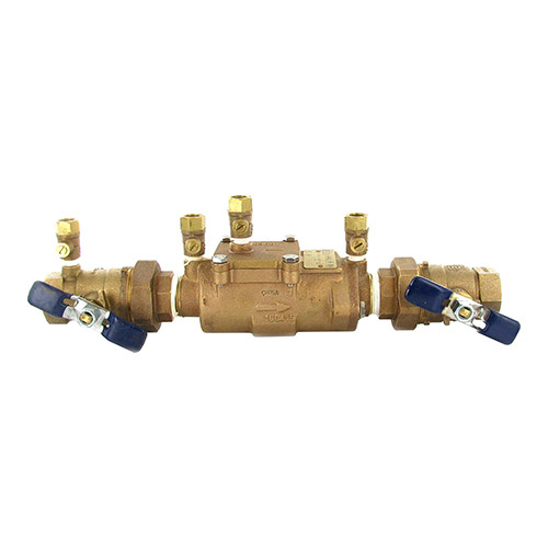 Febco FEU850-100 - 1 inch Double Check Assembly with Union Ball Valve Ends