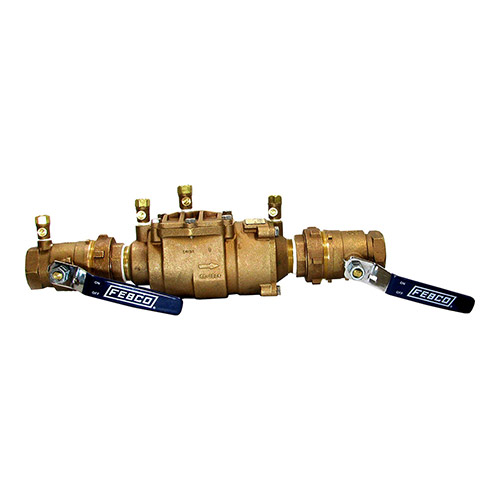 Febco FEU850-200 - 2 inch Double Check Assembly with Union Ball Valve Ends