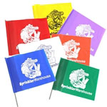 Presco FLAGS-ASST-G 100 Assorted Colors Sprinkler System Marker Flags
