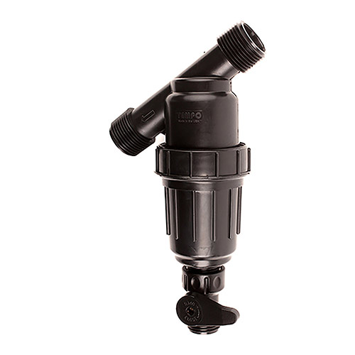 1 inch Y-Filter w/ 150 Mesh Stainless Steel Screen and Flush Valve (10 gpm and 75 psi max)