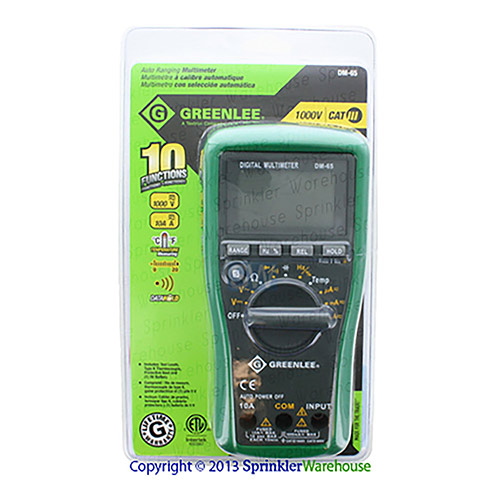 Greenlee G-DM-65 1000V Digital Multimeter With Automatic Ranging