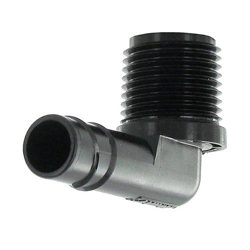 HSBE-050 - 1/2 (mpt) x Swing Pipe Spiral Barb Elbow
