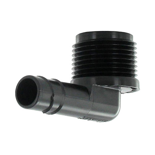HSBE-075 - 3/4 (mpt) x Swing Pipe Spiral Barb Elbow