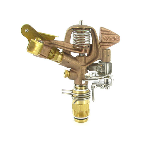 "I75A-316 - Aqualine -  3/4"" Brass adjustable circle impact sprinkler w/ 3/16 nozzle"