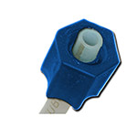EZ Flo K-CNB - Blue Cap Connector Nut - 5 Pack