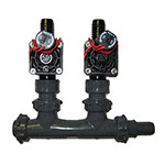 MS-2PGV-BARB - 2 Valve Heavy Duty Professional Manifold System