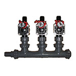 MS-3PGV-Barb - 3 Valve Heavy Duty Professional Manifold