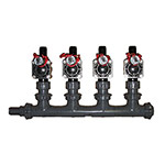 MS-4PGV-Barb - 4 Valve Heavy Duty Professional Manifold System
