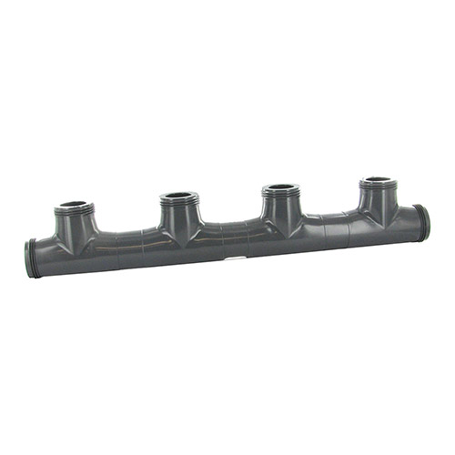 MS-QM - Schedule 80 1 inch Quad manifold with M Buttress Threads