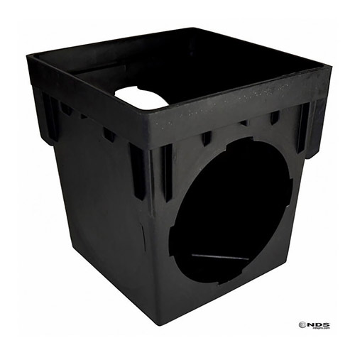NDS-1200 Black 12 in. x 12 in. Two-Outlet Catch Basin