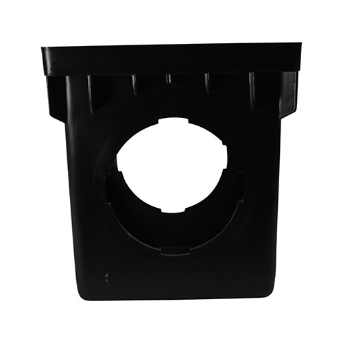 NDS-1204 Black 12 in. x 12 in. Four-Outlet Catch Basin