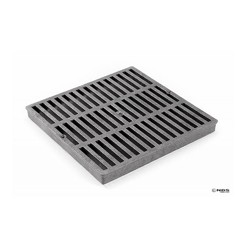 NDS-1211 Black 12 in. x 12 in. Square Grate for 12 in. Catch Basin