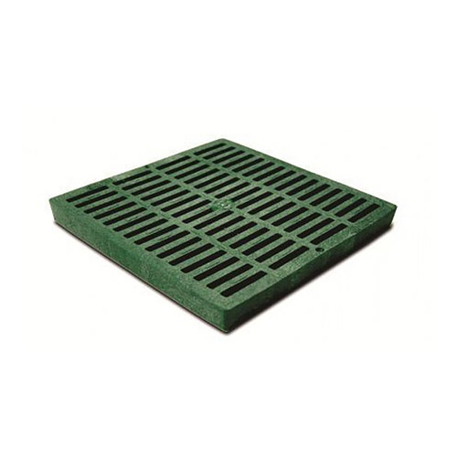 NDS-1212 Green 12 in. x 12 in. Square Grate for 12 in. Catch Basin