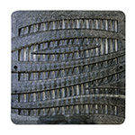 NDS-1224BK-12X12 Black Catch Basin Grate-Wave Pattern