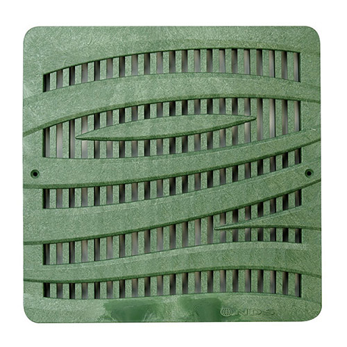 NDS-1224GR 12 in. Wave - Green Catch Basin Grate