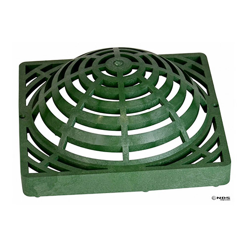 NDS-1280 Green 12 in. x 12 in. Atrium Grate for 12 in. Catch Basin