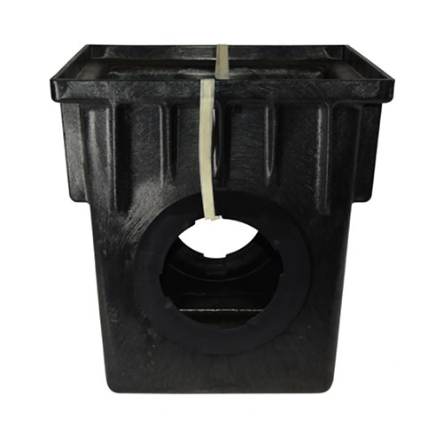 NDS-1882 18 in. x 18 in. Two-Outlet Single Piece Catch Basin