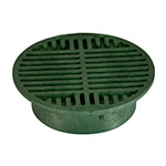 NDS-20 Round Grate 8 inch Green
