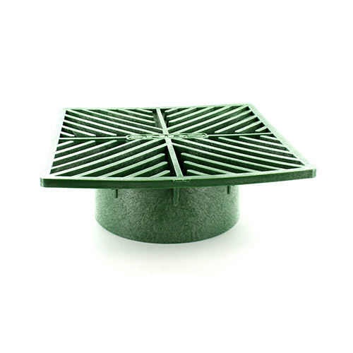 NDS-5 6 in. Green Square Drainage Grate