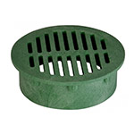 NDS-50 6 in. Green Round Drainage Grate