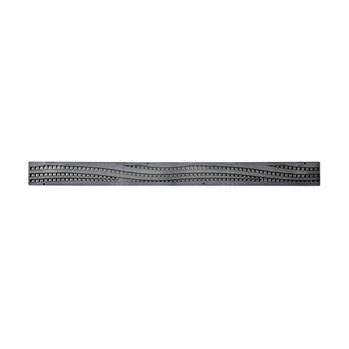 NDS-555 36 in. Wave Plastic Mini Channel Grate Black