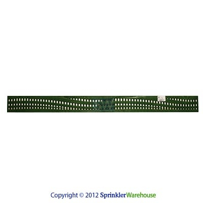 "NDS-555GR-36"" Green  Plastic Mini Channel Grate - Wave Pattern"