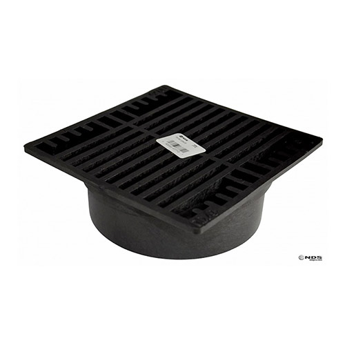 NDS-771 Black 7 in. Square Drainage Grate