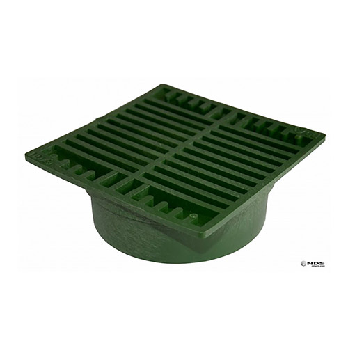 NDS-772 7 in. Green Square Drainage Grate