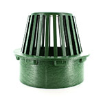 NDS-80 6 in. Green Atrium Drainage Grate