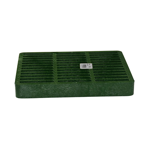 NDS-990 Green 9 x 9 in. Square Grate for 9 x 9 in. Catch Basin