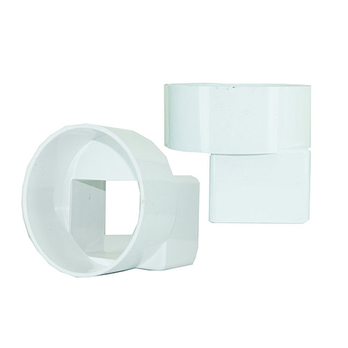 NDS-9P06 Downspout Adapter Centered IPS-PVC  3in x 4 in