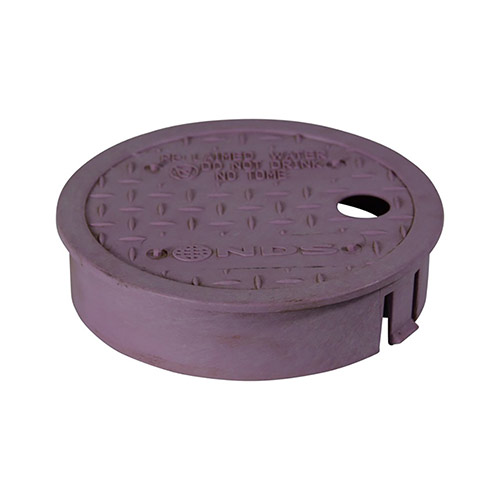 NDS D109-PL 6 in. Round Valve Box Cover (Cover Only) For Reclaimed Water