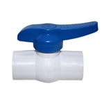 "Aqualine PBV-050S - 1/2"" plastic ball valve with Slip Ends"