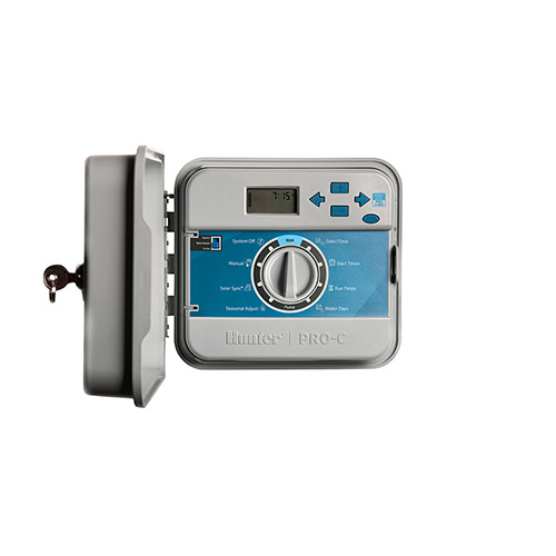 Hunter PCC600 - 6-Station Outdoor Controller / Timer with Internal Transformer