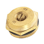 Aqualine Q8 Brass Nozzle Flat Quarter Circle 8 ft