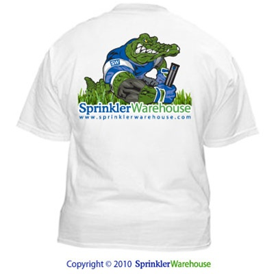 SW-GATORSHIRT - Sprinkler Warehouse Irri-GATOR Shirt (White)