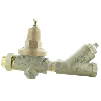 Wilkins 500XLYSBR 1 inch Lead Free Regulator and Strainer