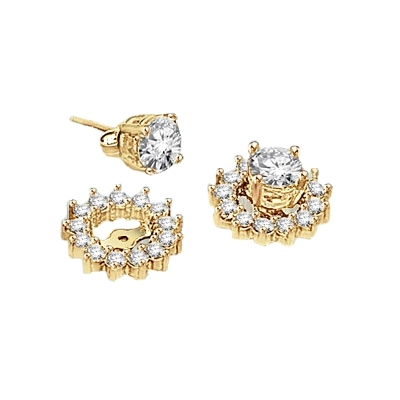Gold diamond essence earring jackets