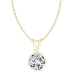 Pendants-1ct diamond in 14K Gold Vermeil
