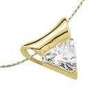 1ct triangle-cut Diamond pendant in Solid Gold