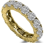 Diamond Essence Eternity Ring, With 4 Cts.T.W. Round Brilliant Stones In 14K Solid Yellow Gold.