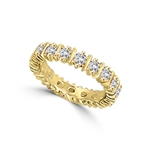 Ring  - eternity band with alternate bar and round stone