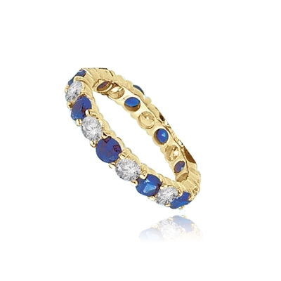 eternity band round Sapphire essence ring gold