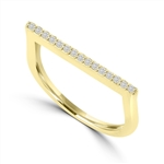 Diamond Essence Ring With Round Brilliant Melee, 0.40 Ct.T.W. In 14K Solid Yellow Gold.