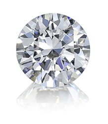Round Brilliant Diamond Essence stone, our best selling version of a mined diamond