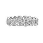 Diamond Essence Antique bracelet. Appx. 15.0 Cts. set in Platinum Plated Sterling Silver.