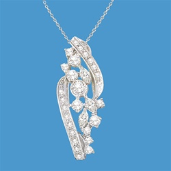 Sterling Silver Pendant with a fanciful finishing touch at an unbelievable price for 4.23 Cts. t.w.