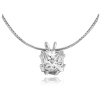 Princess-cut Diamond Essence Pendant in silver