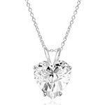 Heart-cut Diamond pendant Sterling Silver