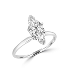marquise shape stone in platinum plated sterling silver ring